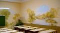 настенная  роспись в школе