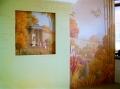 роспись в гостевой, колониальный стиль